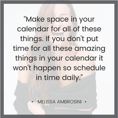 Melissa Ambrosini Quote